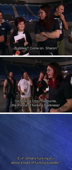 """When bubbles weren�t metal enough for Ozzy: 