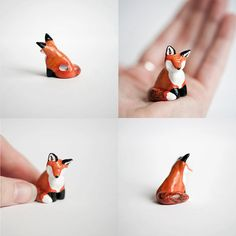 A tiny fox totem, made by hand. $34.00 on Etsy.