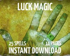 25 Luck Spells 11 Pages Witchcraft Wicca Charmed by MyGrimoire List Of Superstitions, Wiccan Chants, Wish Spell, Luck Spells, Black Books, Personalized Books, Book Of Shadows, Spelling, Things That Bounce