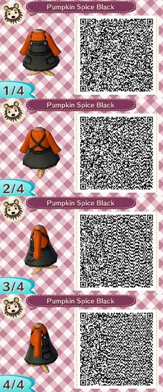 """mayoroflorien: """"I went ahead and made a black overall version of Pumpkin Spice~ """""""