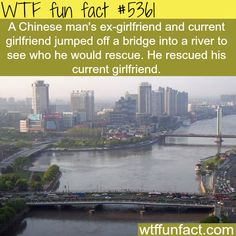 Ex-girlfriend and current girlfriend jump off a bridge - OMG! ...Are You Serious!?!  ~WTF fun facts