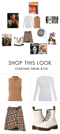 """""""Unbenannt #572"""" by christinejoanna ❤ liked on Polyvore featuring Exclusive for Intermix, Majestic, Jacquemus and Dr. Martens"""