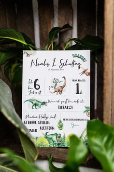 School Beginning Milestone Panel Boy Dino Gift Birthday Poster is personalized as a print or PDF Great Pictures, White Paper, Picture Frames, Birthday Gifts, Great Gifts, Place Card Holders, Writing, Birthday Posters, Personalized Gifts