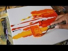 Abstract painting/EASY Textural Abstract painting/Brayer and Palette knife/Acrylics/Demonstration - YouTube