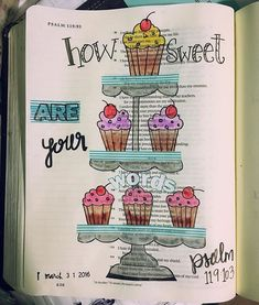 Bible Journaling by @D.J. Bowe.anchor.journaling | Psalm 119:103
