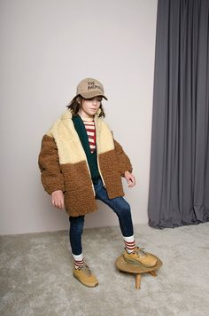 The Animals Observatory Panda Color Block Jacket - Brown - ANOTHER20.COM I  ANOTHER 20 d180a15534bb