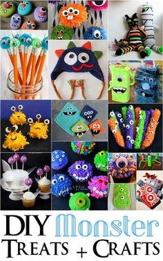 Tons of great DIY Monster party foods, crafts and kid activities - Rae Gun Ramblings Little Monster Birthday, Monster 1st Birthdays, Monster Birthday Parties, 1st Boy Birthday, First Birthday Parties, Kid Parties, Birthday Ideas, Rainbow Parties, Monster Party