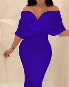 Cross Over Neck Fishtail Evening Dress Evening Dresses Online, Evening Gowns, Dress Online, Stunning Dresses, Fishtail, Half Sleeves, Women's Fashion Dresses, African Fashion, Prom Dresses