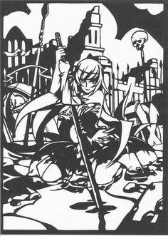 「キスショットアセロラオリオンハートアンダーブレード 切り絵」/「ピック」のイラスト [pixiv]