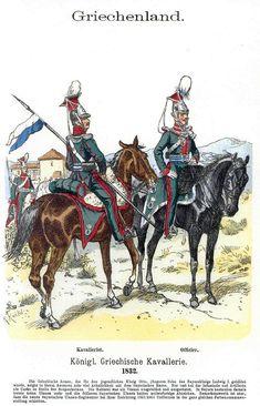 Royal Greek army Cavalry uniforms army uniforms - century outfit - of the of Greece Hellenic Army, Marine Commandos, Army Uniform, Military Uniforms, Military Costumes, Old Greek, Greek Warrior, Greek History, World War One