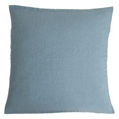 Stone washed linen cushion - Frozen water