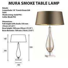 MURA SMOKE TABLE LAMP Ethnic Chic, Table Lamp, Shades, Smoke, Lighting, Home Decor, Decoration Home, Light Fixtures, Room Decor