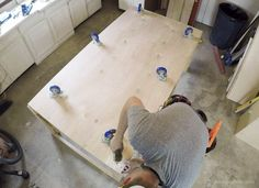 Table Saw Workbench Building Plans with Rockler T-Track System - Remodelaholic Miter Saw Table, Table Saw Workbench, Table Saw Jigs, Table Saw Stand, Diy Table Saw, Workbench Plans, Garage Workbench, Circular Saw Reviews, Best Circular Saw