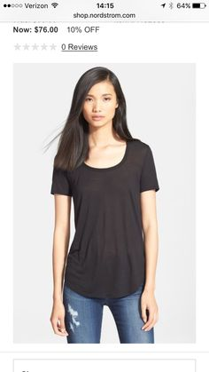 Don't like holes in jeans but love this relaxed, laid back tee