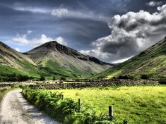 Great Gable View from Wasdale Head stock photo