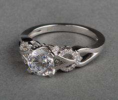 d997a39cf This semi engagement ring mounting by Frederic Sage is simply flawless  Crafted with detailed design work in 18 karat white gold, with carat at  total weight