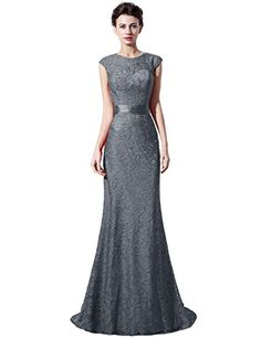 a01c0b5a43fb Belle House Long Mermaid Formal Evening Gown Gray Sashed Party Dress     Read more at