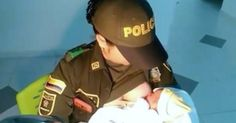 Police Officer Saves Newborn Baby By Breastfeeding Her via LittleThings.com