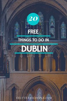 20 Free Things to do in Dublin – Are you planning a trip to Ireland? Then I would guess Dublin is on your list. Dublin can be expensive to visit so let us help you to save some money with our list of 20 free things to do in Dublin. Check it out! Dublin Travel, Europe Travel Tips, Ireland Travel, European Travel, Budget Travel, Galway Ireland, Cork Ireland, Ireland Vacation, Paris Travel