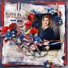 Amazing new kit ~~ Wild and Free~~ by Vero - The French Touch - $1 per pack - June 19-22 https://www.pickleberrypop.com/shop/manufacturers.php?manufacturerid=166  Photo of my DD by Studioline Photography Dresden/Germany