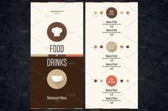 Restaurant menu flat design by Restaurant Menu & Logos on @creativemarket