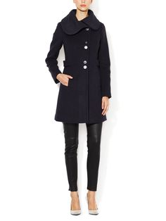 Aly Wool Belted Coat by Soia & Kyo at Gilt