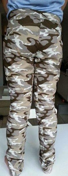 Yolanda Fashion Modevakschool: Camouflage broek.