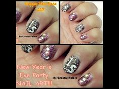 Let's welcome Happy New Year with nail art!! Here is the Happy New Year 2015 nail art design!! The tutorial is up on my YouTube channel, check it out here: http://youtu.be/eBWn60aNJjE