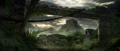 When the rain stops and the sun is out. A dawn in the ancient civilization. Matte Painting, Fantasy Landscape, Ancient Civilizations, Mount Rushmore, Temple, 1, Mountains, Aztec, Dawn