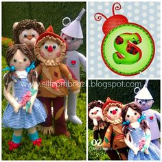 Sil From Brazil -- Wizard of Oz dolls...you should see what this girl does! Princesses and more! silfrombrazil.blogspot.com