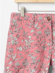Printed summer shorts in pink floral | Gap
