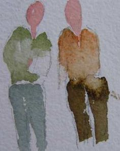 Painting People in Watercolor is Not As Difficult As It Appears. Adds Life To a Painting.