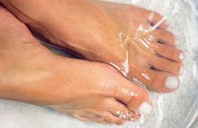Pour a cup of white vinegar into a small basin with about 1-2 gallons of warm water and soak your feet for 15 minutes. The natural remedy works wonders for athlete's foot, toenail fungus, smelly feet and dry skin, say experts. And, if you have achy feet, consider mixing in a bit of Epsom salts.