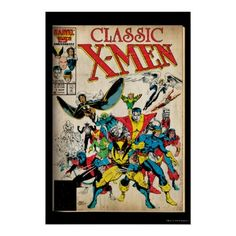 Retro Classic X-Men Cover art Poster from issue #1.