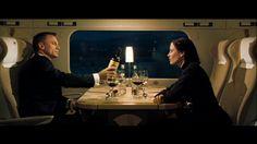 "Bond and Vesper meet on a train in ""Casino Royale."""