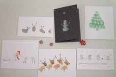 Fingerabdruck-Karten auf Altpapier / Fingerprint cards made from waste-paper / Upcycling
