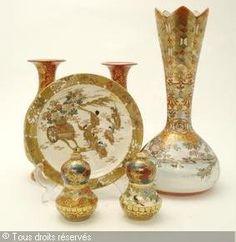 Porcelaine KUTANI (Japon) - Vases, (2)