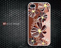 iphone 4 case iphone 4s case iphone 4 cover classic colorized flower pattern design. $13.99, via Etsy.
