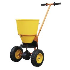 Grit Spreader With PE Hopper - Workplace Catalogue Shelving Systems, Industrial Shelving, Storage Design, Rubber Tires, Car Parking, Workplace, Outdoor Power Equipment, Baby Strollers, Catalog
