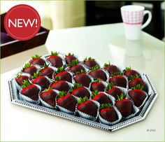 Elegance Platter™  Dipped Strawberries (I want this!)