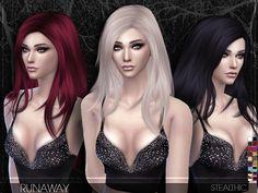 Stealthic - Runaway (Female Hair) - The Sims 4 Catalog Sims 4 Cas, My Sims, Sims Cc, All Hairstyles, Female Hairstyles, Drawing Hairstyles, Film Manga, The Sims 4 Cabelos, Pelo Sims