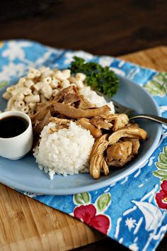 Hawaiian Style Shoyu Chicken that you can crockpot or not. It's a personal favorite. So easy and so good and it takes me right back to the islands. I leave out the pepper flakes and Worcestershire, though.