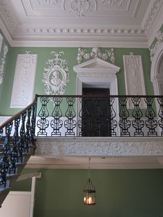 House of St Barnabas-in-Soho, 1 Greek Street. Built 1746. I decorated this staircase and advised on other areas http://patrickbaty.co.uk/2010/11/26/1-greek-street-the-house-of-st-barnabas-in-soho/