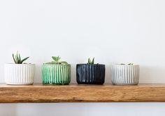 Ceramic Planter For Succulent, Plant Holder, Black Decor, Green Ceramic Mini Pot, Cactus Planter, Decorative Planter, Air Plant Holder by zoharshaham on Etsy https://www.etsy.com/listing/504535543/ceramic-planter-for-succulent-plant