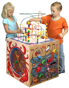Play Cube -- Wooden Activity Cube