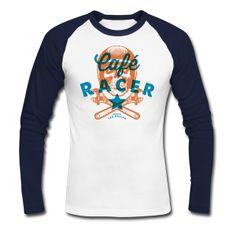 Café Racer - Tee shirt baseball manches longues Homme