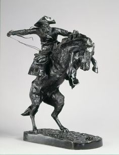 The Bronco Buster by Frederic Sackrider Remington