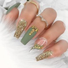 Glam Nails, Cute Nails, Pretty Nails, Hair And Nails, My Nails, Crazy Nails, Nailart Glitter, Luxury Nails, Manicure E Pedicure