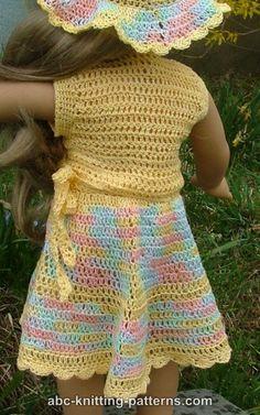 Crochet Doll Skirt Pattern American Girls 70 Ideas For 2019 Crochet Doll Dress, Crochet Doll Clothes, Knitted Dolls, Crochet Outfits, American Doll Clothes, Baby Doll Clothes, Barbie Clothes, American Girl Crochet, American Girls