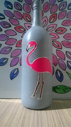 Handpainted flamingo